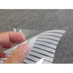 Película decorativa listras brancas 1cm , intervalos 0,5cm transparente