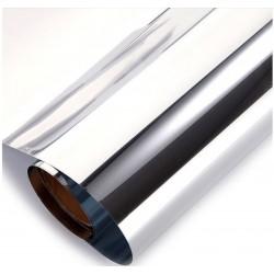 Película Espelhada - Prata 20% profissional, filtro UV 95%, 20% transparência , alta eficiência , alta eficiência para calor