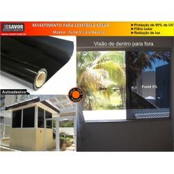 Película Fumê 5% , filtro UV 95% , 5% de Transmissão Luminosa