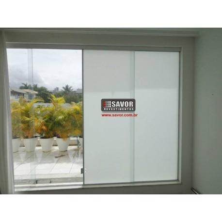 Película Jateada leitosa, filtro UV 98% , para privacidade e decoração de vidros