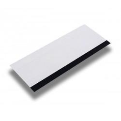 Espátula em bloco - corintiana , dimensões 15cm x 6cm, cor branca , uma das extremidades emborrachada