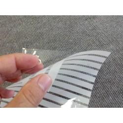 Amostra 20cm x 30cm revestimento decorativo faixas 1cm