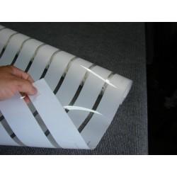 Amostra 20cm x 30cm revestimento decorativo faixas 4,5cm