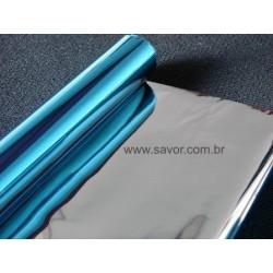 Amostra 20cm x 30cm - Película Azul espelhada 10%