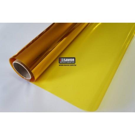 Amostra 20cm x 30cm - Película solar Amarelo natural 80%