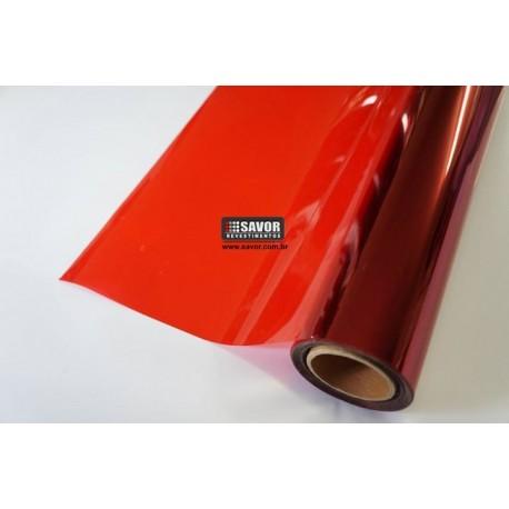 Amostra 20cm x 30cm - Película Vermelho natural 15%