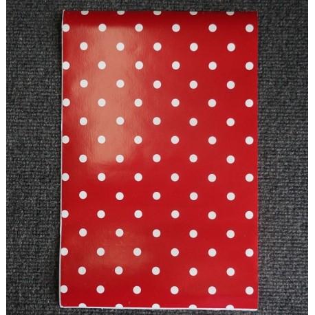 (Amostra 20cm x 30cm) Poá vermelho - Adesivo Decorativo