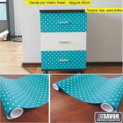 Poá Azul Adesivo Decorativo ( largura 45cm), venda por metro