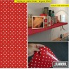 Poá Vermelho Adesivo Decorativo ( largura 45cm), venda por metro