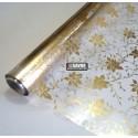 Floral ouro - revestimento adesivo decorativo para vidro