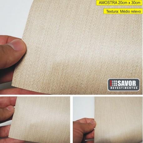 Amostra 20cm x 30cm - Tecido natural MG456-AM - revestimento PVC adesivo