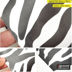 Amostra 20cm x 30cm - Zebra - revestimento adesivo