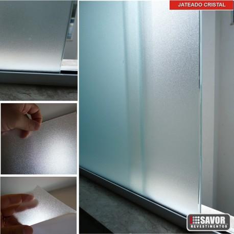 Adesivo decorativo jateado cristal , para privacidade e decoração de vidros