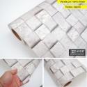 Pedra cubos HB743 - revestimento PVC adesivo decorativo (Largura 122cm) - venda por metro