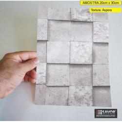 Amostra 20cm x 30cm - Pedra (cubos) HB743 - revestimento PVC adesivo