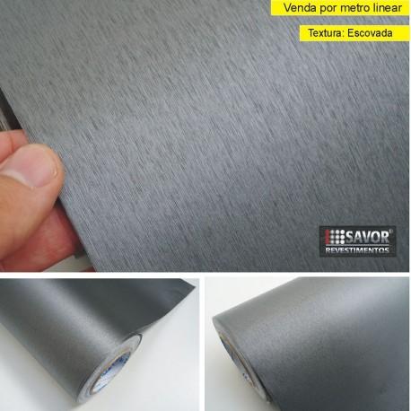 Adesivo Escovado grafite ( BRUSHED GRAFITE) largura 138cm