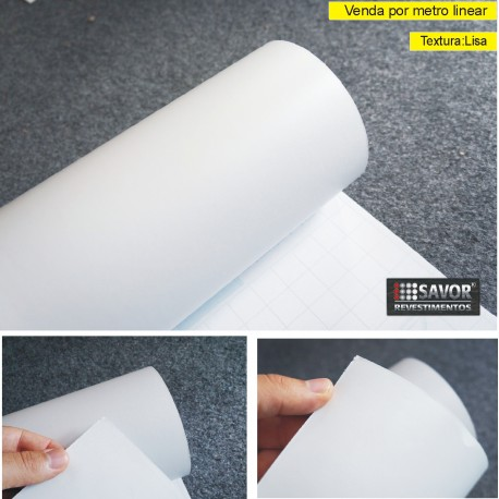 Adesivo Branco cetim fosco alltak - largura 138cm
