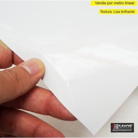 Adesivo Branco alto brilho - ULTRA COCONUT WHITE - Largura 138cm - venda por metro