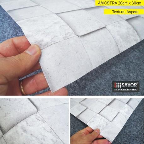 Amostra 20cm x 30cm - Pedra (cubos) HB742 - revestimento PVC adesivo
