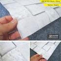 Amostra 20cm x 30cm - Pedra cubos cinzas HB742 - revestimento PVC adesivo