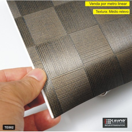 TE002 - revestimento PVC adesivo decorativo (Largura 122cm) - venda por metro