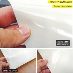 Amostra 20cm x 30cm - Adesivo Creme alto brilho ULTRA VANILLA ICE CREAM