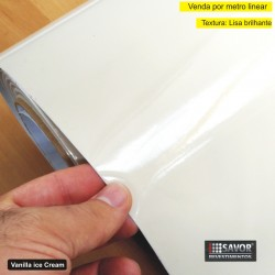 Adesivo Creme alto brilho ULTRA VANILLA ICE CREAM Largura 138cm - venda por metro