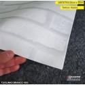 (Amostra 20cm x 30cm) Tijolinho Branco 1803 - revestimento adesivo decorativo