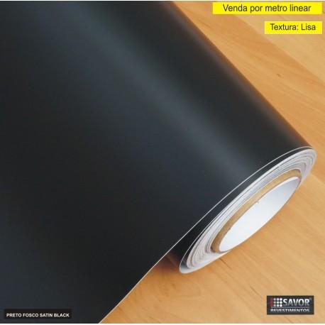 Adesivo preto fosco Satin Black Largura 138cm - venda por metro