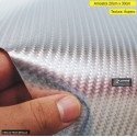 Amostra 20cm x 30cm - Fibra 4D Metalic PRATA revestimento adesivo