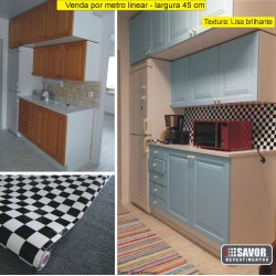 Monza (xadrex) - Adesivo Decorativo (largura 45cm)(textura lisa) -venda por metro