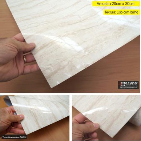 (Amostra 20cm x 30cm) Mármore Travertino romano polido PG932 - Adesivo Decorativo