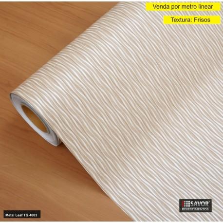 Metal Leaf TG4003 - revestimento PVC adesivo decorativo (Largura 122cm) - venda por metro
