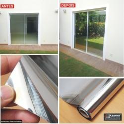 Película Espelhada - Fumê 5% profissional, filtro UV 99%, 5% transparência , alta eficiência , alta eficiência para calor