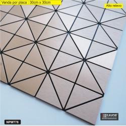 PASTILHA ADESIVA METÁLICA NPMT78 dimensões 30 cm x 30cm - venda por placa