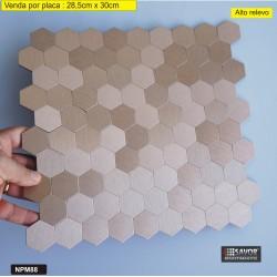 PASTILHA ADESIVA METÁLICA NPM88 dimensões 28,5 cm x 30cm - venda por placa