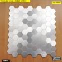 PASTILHA ADESIVA METÁLICA NPM87 dimensões 28,5 cm x 30cm - venda por placa