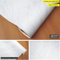 Mármore Branco Carrara FOSCO Adesivo Decorativo (Largura 122cm) - venda por metro , textura áspera MG3054 /
