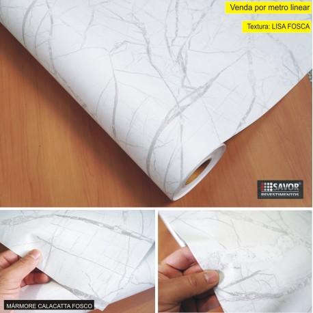 Mármore Calacatta Fosco TG425F Adesivo Decorativo (Largura 122cm) - venda por metro