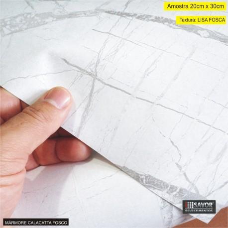 (Amostra 20cm x 30cm) Mármore Calacatta Fosco TG425F - Adesivo Decorativo