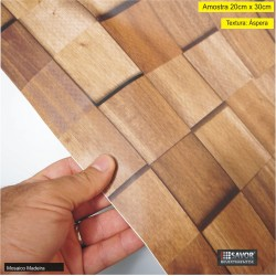 Amostra 20cm x 30cm - Mosaico Madeira SV4-103 - revestimento PVC adesivo