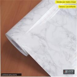 Mármore Carrara Brilhante SV7-106 Adesivo Decorativo (Largura 122cm) , venda por metro