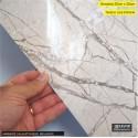 (Amostra 20cm x 30cm) Mármore Calacatta Bege brilhante SV7-110 - Adesivo Decorativo