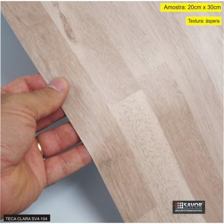 (Amostra 20cm x 30cm) Madeira Teca clara SV4-104 - Adesivo Decorativo