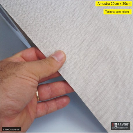 Amostra 20cm x 30cm - Linho SV6-111-AM - revestimento PVC adesivo