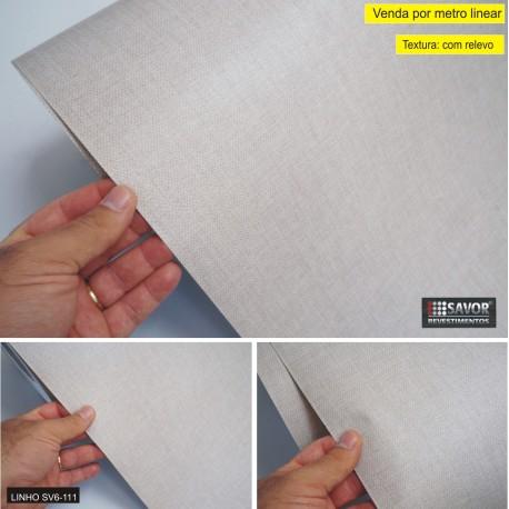 Linho SV6-111- revestimento PVC adesivo decorativo (Largura 122cm) - venda por metro