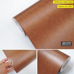 Couro Natural SV11-114 - revestimento PVC adesivo decorativo (Largura 122cm) - venda por metro