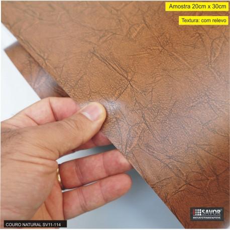 (Amostra 20cm x 30cm) Couro Natural SV11-114 Adesivo Decorativo cod. IE029