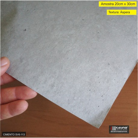 (Amostra 20cm x 30cm) Cimento SV6-113 - Adesivo Decorativo ref. IPW557