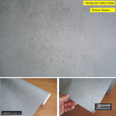 Cimento SV6-113 - Adesivo Decorativo (Largura 122cm) - venda por metro ref. ipw557
